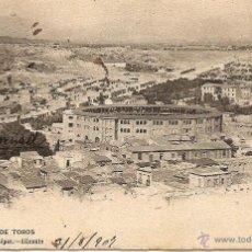 Postales: ALICANTE - PLAZA DE TOROS - 31 BAZAR PASCUAL LÓPEZ - CIRCULADA AÑO 1907. Lote 43083875