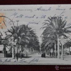 Postales: ANTIGUA POSTAL DE ALICANTE. PASEO DE GOMIZ. CIRCULADA. Lote 43173953