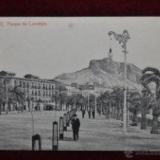 Postales: ANTIGUA POSTAL DE ALICANTE. PARQUE DE CANALEJAS. FOTPIA THOMAS. CIRCULADA. Lote 43175338