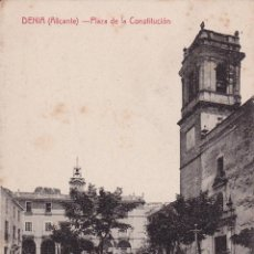 Postales: DENIA (ALICANTE) PLAZA DE LA CONSTITUCIÓN - CASTANEIRA, ALVAREZ, LEVENFELD - EDICION J. LLORENS. Lote 43251928