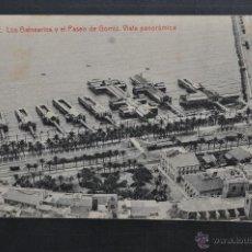 Postales: ANTIGUA POSTAL DE ALICANTE. LOS BALNEARIOS Y EL PASEO DE GOMIZ. FOTPIA THOMAS. SIN CIRCULAR. Lote 293330983
