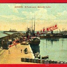 Postales: POSTAL ALICANTE , EL PUERTO NUEVO , ACORAZADOS INGLESES , BARCOS , ORIGINAL, P95008. Lote 43605199
