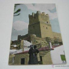 Postales: AÑOS 60 . VECINAS Y CASTILLO DE VILLENA ALICANTE. Lote 43834763