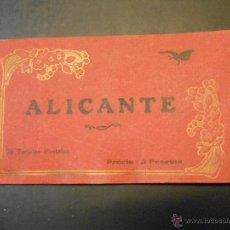 Postales: ALICANTE - 20 TARJETAS POSTALES-ANIMACION-PUBLICIDAD DE ALMACEN DE PAPEL MARIMON EN LA CONTRAPORTADA. Lote 43866759