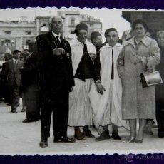 Postales: FOTOGRAFIA DE ALCOY (ALICANTE). FIESTAS DE MOROS Y CRISTIANOS. AÑOS 40.. Lote 43933624