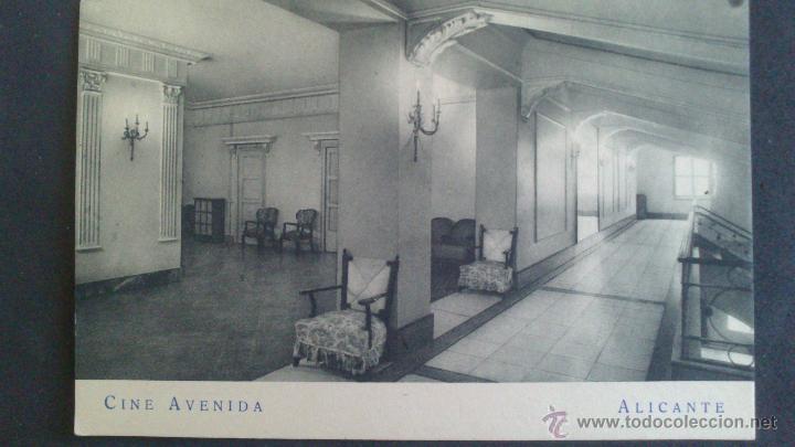 POSTAL DE ALICANTE, CINE AVENIDA. F.MESAS. ARTE BILBAO (Postales - España - Comunidad Valenciana Antigua (hasta 1939))