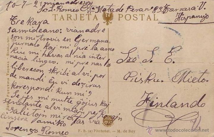 Postales: RARISIMA POSTAL DE CORBERA DE LLOBREGAT - 1921 - BARCELONA -MASIA E.JARDI - FOTOTIPIA THOMAS - Foto 2 - 44201920