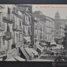 Postales: ANTIGUA POSTAL DE VALENCIA. PLAZA DE EMILIO CASTELAR. FOTPIA. THOMAS. SIN CIRCULAR. Lote 44234926