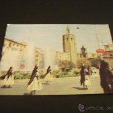 Postales: VALENCIA FALLERAS POR PLAZA REINA.MIGUELETE. Lote 45079101