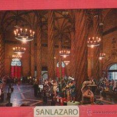 Postales: POSTAL VALENCIA-DL. B.18701-X.LA LONJA SALON COLUMNARIO EN DIAS DE FALLAS. Lote 45130113