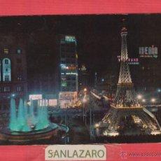 Postales: POSTAL VALENCIA-DL. B.10185-IX PLAZA DEL CAUDILLO DE NOCHE EN DIAS DE FALLAS. Lote 45130172