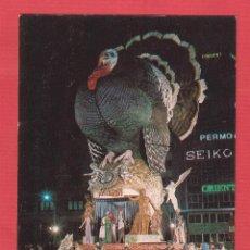Postales: POSTAL VALENCIA-FUERA DE CONCURSO FALLAS 1976 F. PLAZA DEL CAUDILLO-AF. VICENTE LUNA. Lote 45131486