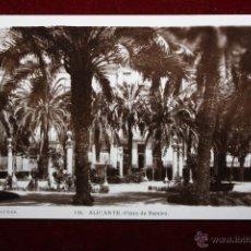Postales: ANTIGUA FOTO POSTAL DE ALICANTE. PLAZA DE RAMIRO. FOT. SANCHEZ. SIN CIRCULAR. Lote 45309234