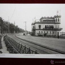 Postales: ANTIGUA FOTO POSTAL DE ALICANTE. CLUB DE REGATAS. FOT. L. ROISIN. SIN CIRCULAR. Lote 45309263