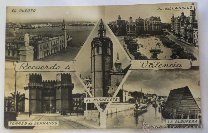TARJETA POSTAL BLANCO Y NEGRO VALENCIA RECUERDO DE VALENCIA EDICIONES JDP (Postales - España - Comunidad Valenciana Moderna (desde 1940))
