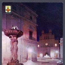 Postales: CASTELLON DE LA PLANA. PLAZA MAYOR. FUENTES ILUMINADAS. Lote 45658561