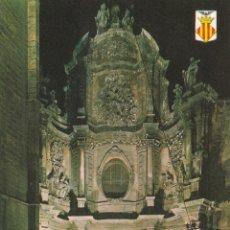 Postales: Nº 14337 POSTAL PUERTA DE LOS HIERROS DE LA CATEDRAL VALENCIA. Lote 45828575
