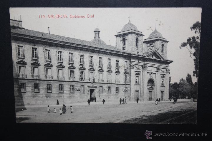 ANTIGUA POSTAL DE VALENCIA. GOBIERNO CIVIL. FOTPIA. THOMAS. CIRCULADA (Postales - España - Comunidad Valenciana Antigua (hasta 1939))