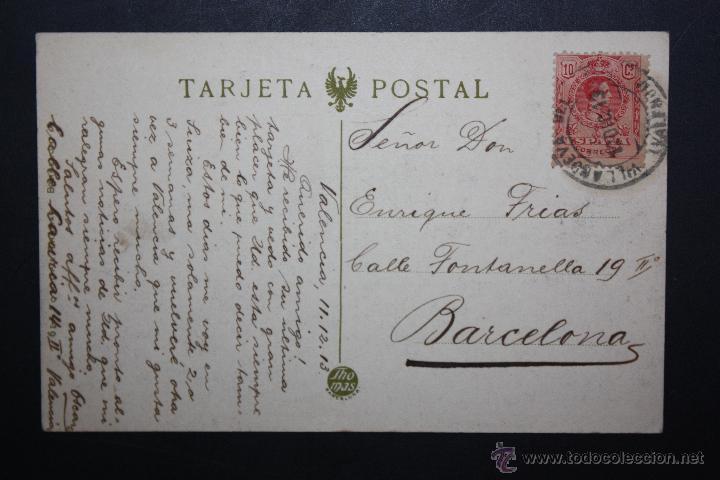 Postales: ANTIGUA POSTAL DE VALENCIA. GOBIERNO CIVIL. FOTPIA. THOMAS. CIRCULADA - Foto 2 - 45843700