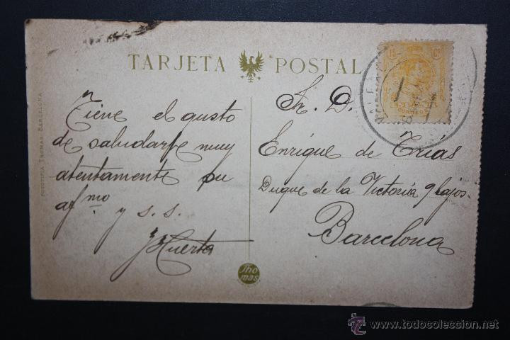Postales: ANTIGUA POSTAL DE VALENCIA. PARQUE DE ARTILLERIA. FOTPIA. THOMAS. CIRCULADA - Foto 2 - 45900187