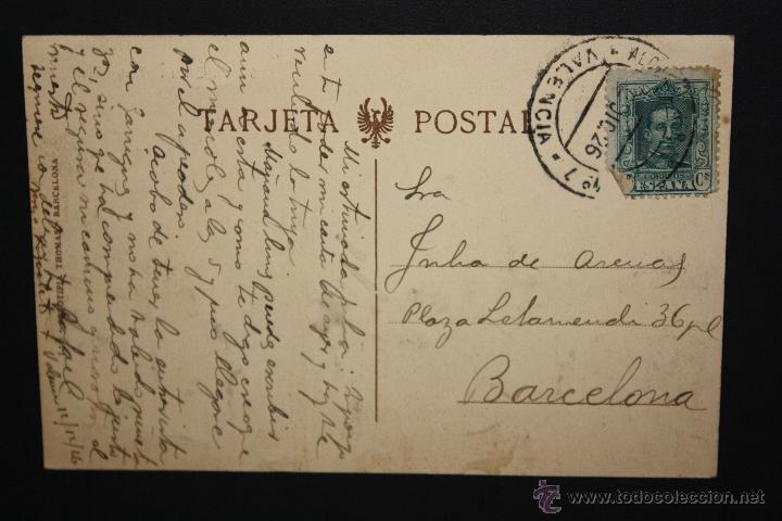 Postales: ANTIGUA POSTAL DE VALENCIA. TEATRO PRINCIPAL. FOTPIA. THOMAS. CIRCULADA - Foto 2 - 45900231