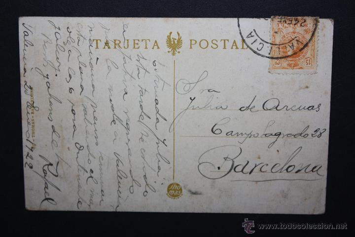 Postales: ANTIGUA POSTAL DE VALENCIA. LONJA DE LA SEDA. FOTPIA. THOMAS. CIRCULADA - Foto 2 - 45900310