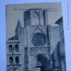 Postales: POSTAL ANTIGUA. VALENCIA. SIN CIRCULAR. CATEDRAL PUERTA DE LOS APOSTOLES. Lote 46005098