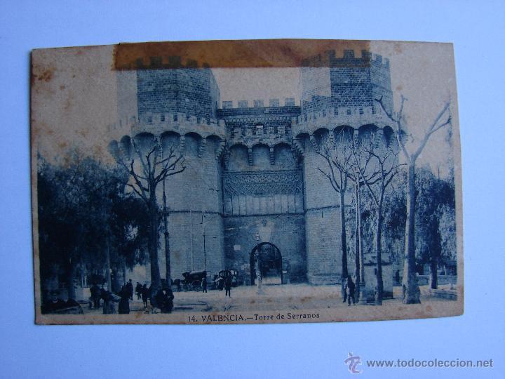 POSTAL ANTIGUA. VALENCIA. SIN CIRCULAR. TORRE DE SERRANOS (Postales - España - Comunidad Valenciana Antigua (hasta 1939))
