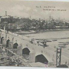 Postales: POSTAL VALENCIA PUENTE DEL MAR Y VISTA GENERAL. Lote 46141896