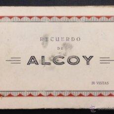 Postales: ALCOY. 2O VISTAS. BLOC COMPLETO. L. RUISIN FOT.. Lote 46247390