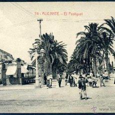 Postales: ALICANTE: EL POSTIGUET - Nº 74 ED. THOMAS - BARCELONA. Lote 46292085