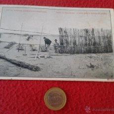 Postales: ANTIGUA Y ESCASA POSTAL Nº 11 DUNAS DE GUARDAMAR TRABAJOS HIDROLOGICO FORESTALES CON CAÑIZO 1917. Lote 46527513