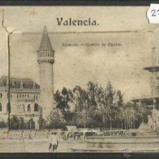 Postales: VALENCIA - ALAMEDA - CASTILLO DE RIPALDA -POSTAL CON MINIBLOCK- VER FOTOS - EUARDO SCHILLING (27341). Lote 46643557