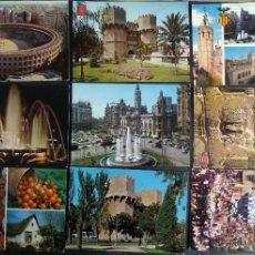 Postales: LOTE DE 9 POSTALES DE VALENCIA DEL AÑO 1966. VER FOTOGRAFIAS Y COMENTARIOS.. Lote 46784390