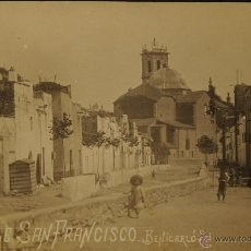 Postales: BENICARLO - CASTELLON - CALLE SAN FRANCISCO - FOTOGRAFICA SIN CIRCULAR Y DORSO DIVIDIDO. Lote 46789555