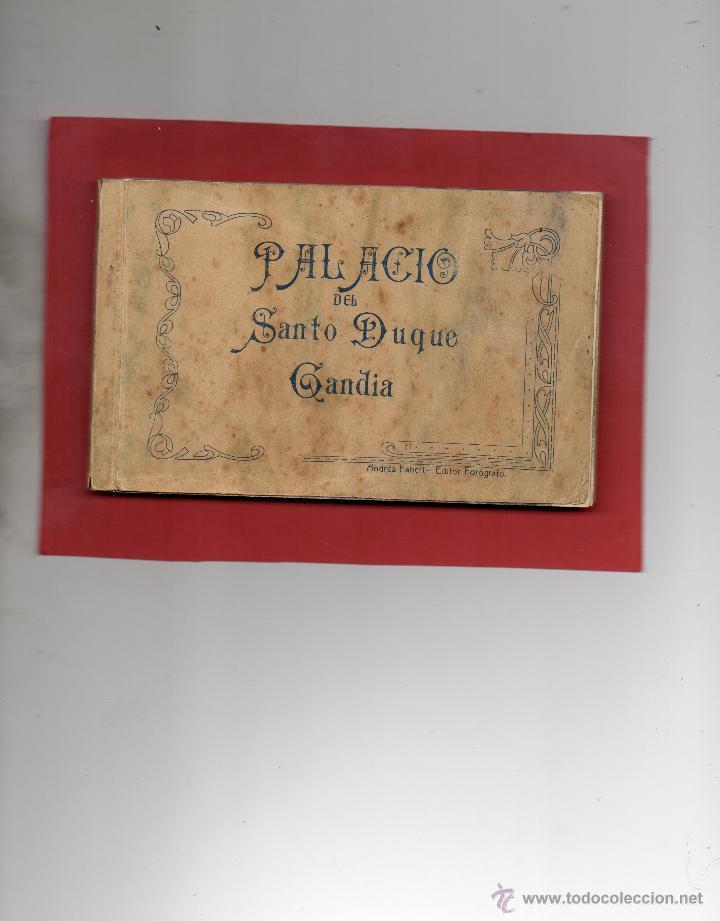 GANDIA. PALACIO DEL DUQUE. BLOC DE 23 POSTALES. FALTA LA Nº 19. A. FABERT (Postales - España - Comunidad Valenciana Antigua (hasta 1939))