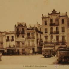 Postales: VINAROZ (CASTELLON) - PLAZA JOVELLAR - FOTOGRAFIA IMPRESA SIN CIRCULAR Y DORSO DIVIDIDO. Lote 47068270