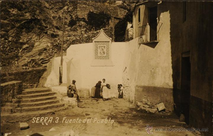 SERRA ( VALENCIA) FUENTE DEL PUEBLO - FOTOGRAFICA CIRCULADA Y DORSO SIN DIVIDIR (Postales - España - Comunidad Valenciana Moderna (desde 1940))