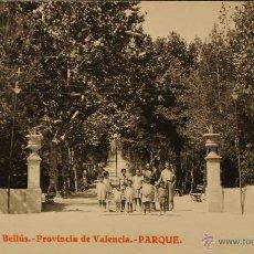 Postales: BELLUS (VALENCIA) - PARQUE DEL BALNEARIO - FOTOGRAFICA SIN CIRCULAR Y DORSO DIVIDIDO. Lote 47068370
