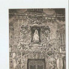 Postales: VALENCIA. PUERTA DEL PALACIO DEL MARQUÉS DE DOS AGUAS. Lote 47262065