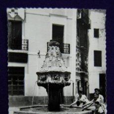 Postales: POSTAL DE JATIVA (VALENCIA). Nº4 PLAZA DEL CID. FUENTE GOTICA. EDIC DARVI (ZARAGOZA). AÑOS 50.. Lote 47268898