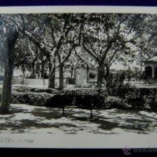 Postales: POSTAL DE ONTENIENTE (VALENCIA). GLORIETA. FOTO CORAL. EDIC PAPELERIA SAN CARLOS. AÑOS 50.. Lote 47269052