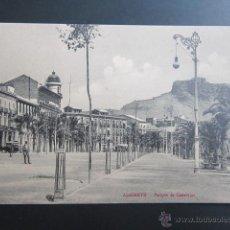 Postales: POSTAL ALICANTE. PARQUE DE CANALEJAS. Lote 47297742