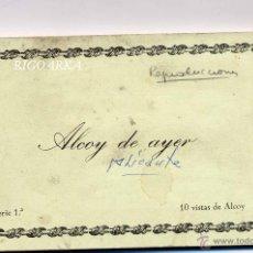 Postales: ALCOY DE AYER (ALICANTE).- ALBUM COMPLETO (SON REPRODUCCIONES). Lote 47355082