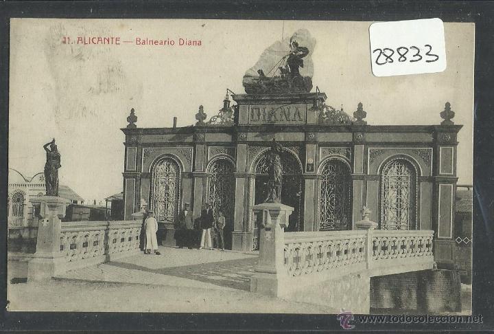 ALICANTE - 11 - BALNEARIO DIANA - FOTOTIPIA CASTAÑEIRA Y ALVAREZ (28833) (Postales - España - Comunidad Valenciana Antigua (hasta 1939))