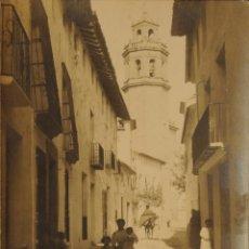 Postales: BENIGANIM - VALENCIA - CALLE MONCADA - FOTOGRAFICA SIN CIRCULAR Y DORSO DIVIDIDO. Lote 47461019