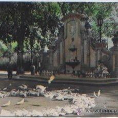 Postales - POSTAL CARCAGENTE PLAZOLETA Y FUENTE DEL PARQUE VALENCIA ED. CUENCA N0 15 COLOREADA - 47552682