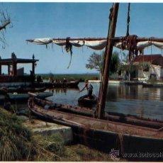 Postales: POSTAL VALENCIA EMBARCADERO DE EL SALER 1964 . Lote 47659807