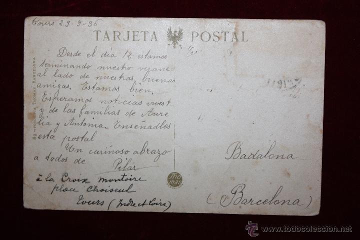 Postales: ANTIGUA POSTAL DE VALENCIA. LONJA DE LA SEDA. FOTPIA. THOMAS. CIRCULADA - Foto 2 - 47671258