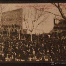 Postales: GANDIA - MITIN CATOLICO CONTRA ESCUELAS LAICAS - 1910 - FOTOGRAFICA SIN CIRCULAR Y DORSO DIVIDIDO. Lote 47786467